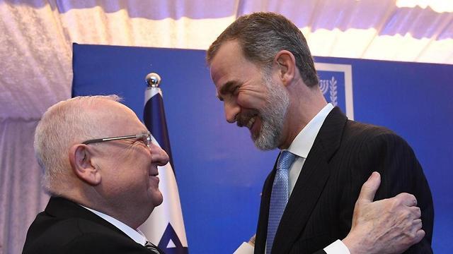 ארוחת ערב ב בית הנשיא נשיא המדינה ראובן ריבלין ו מלך ספרד  (צילום: לע