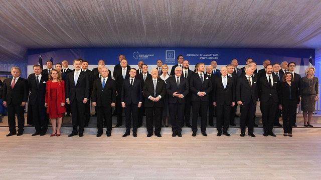 צילום תמונות ה מנהיגים ב בית הנשיא מ ארוחת ערב עם נשיא המדינה ראובן ריבלין  (צילום:  קובי גדעון, לע