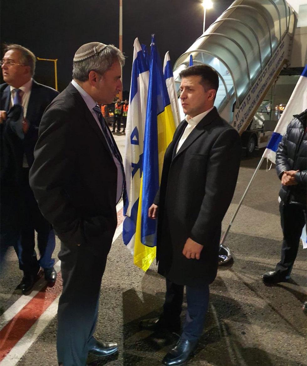 זאב אלקין עם נשיא אוקאינה  ()