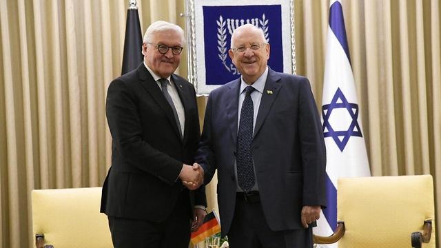 נשיא המדינה ראובן ריבלין עם נשיא גרמניה פרנק ואלטר שטיינמאייר ()