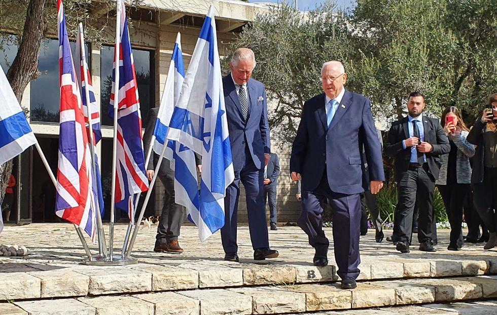הצהרה משותפת של ראובן ריבלין והנסיך צ'ארלס לקראת פורום השואה הגדול (צילום: בראל אפרים)