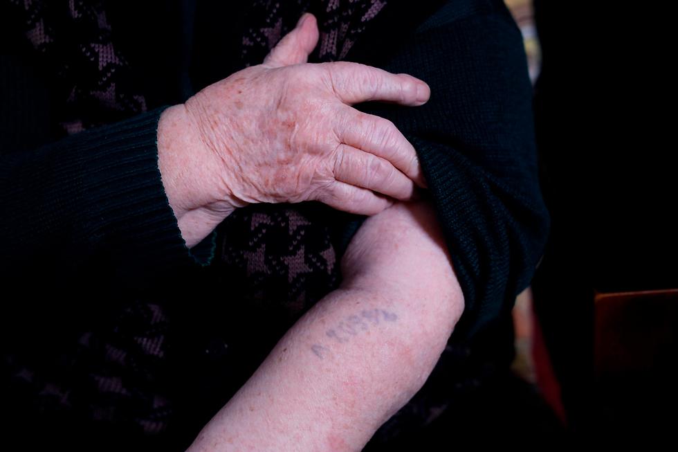ניצולת שואה הלנה הירש אושוויץ (צילום: AFP)
