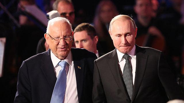 """Ривлин и Путин в """"Яд ва-Шем"""". Фото: Алекс Коломойский"""