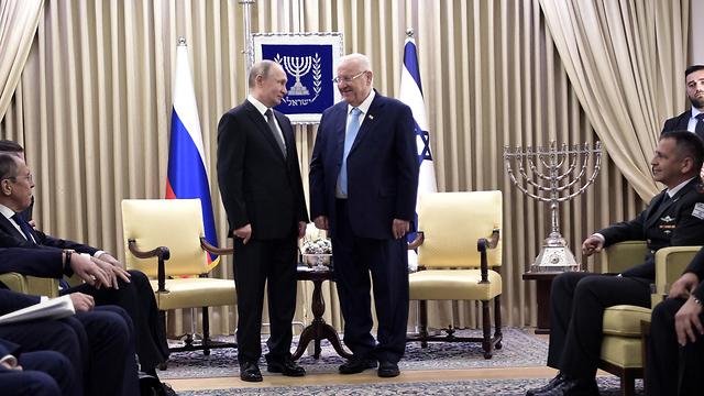 ולדימיר פוטין ראובן ריבלין בננימין נתניהו טקס פורום השואה יד ושם שואה ירושלים (צילום: רויטרס)