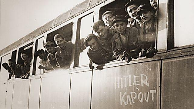 ילדי הבלוק בדרכם לצרפת (באדיבות מוזיאון השואה של ארה