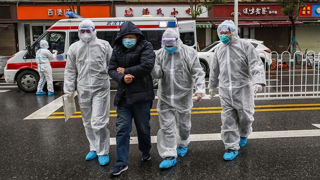 רחובות סין בזמן התפשטות וירוס הקורונה מתרוקנים (צילום: AFP)