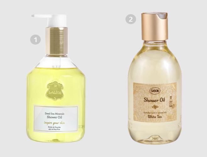 במקום קרם גוף: סבון נוזלי במרקם שמן. 1. ללין   2. סבון (צילום: רונן מנגן, vipdesign)