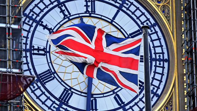 בריטניה דגל הממלכה המאוחדת ביג בן לונדון ברקזיט (צילום: EPA)