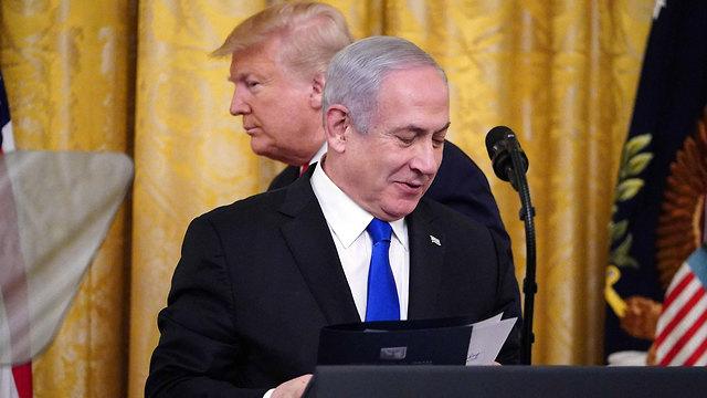 Выступление Нетаниягу в Белом доме. Фото: AFP