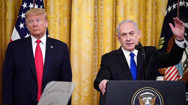 "Презентация ""сделки века"" в Белом доме. Фото: AP"