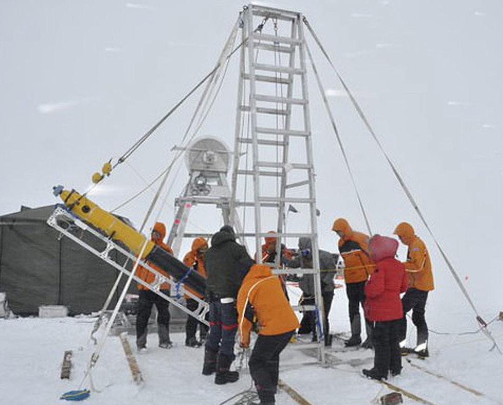 קרחון יום הדין ת'ווייטס קידוח אנטארקטיקה ()