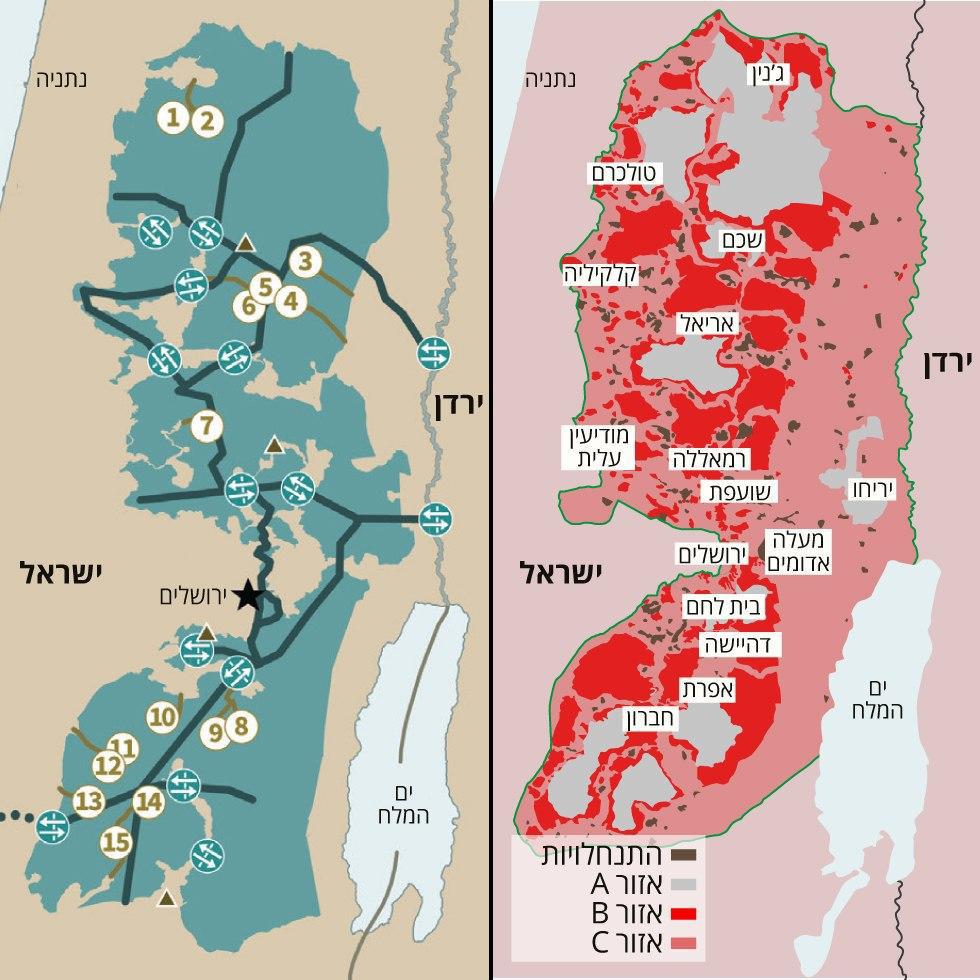 מפה תוכנית המאה הסכם אוסלו ()