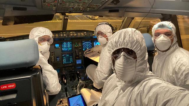 נגיף קורונה סין מטוס של סרי לנקן איירליינס מפנה אזרחי סרי לנקה מ ווהאן (צילום: EPA)