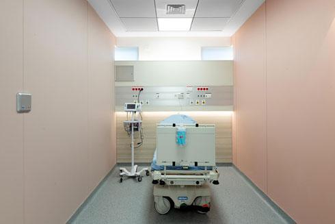צבעוניות גם בחדר התאוששות (צילום: גדעון לוין, סטודיו 181 מעלות)