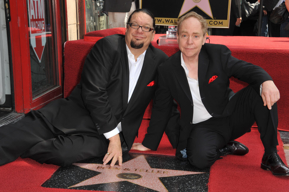פן וטלר עם הכוכב בהוליווד (צילום: shutterstock)