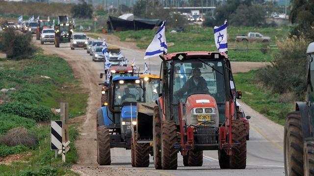 מחאת החקלאים בבקעה -