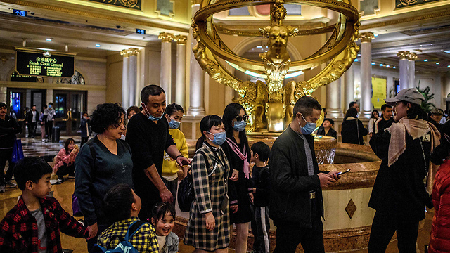 נגיף קורונה סין בתי קזינו ו רחובות ב מקאו (צילום: AFP)