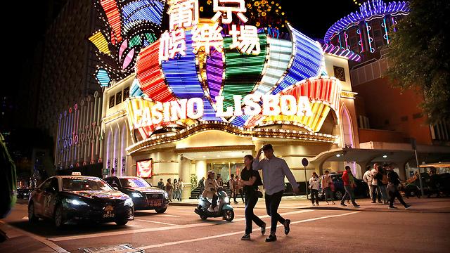נגיף קורונה סין בתי קזינו ו רחובות ב מקאו (צילום: רויטרס)