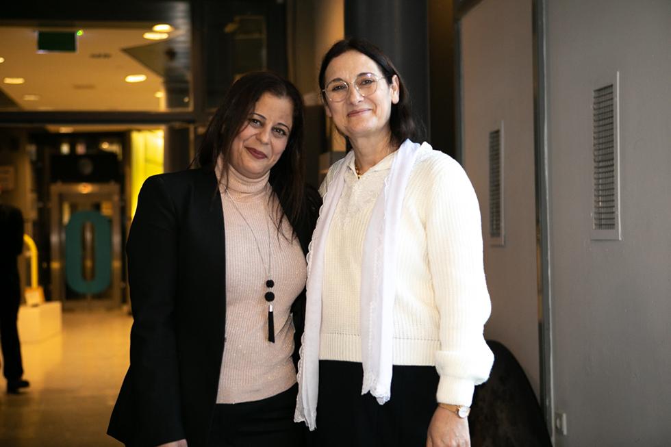 רכילות עסקית איה ח'יראדין ומג'דולין חיזראן (צילום: יניב אלום)