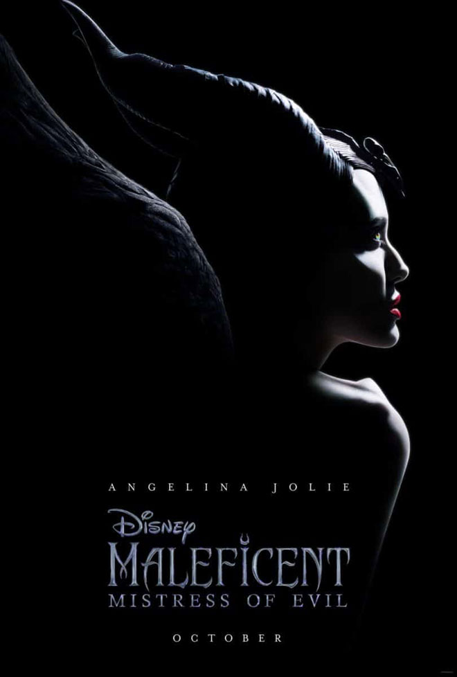 אנג'לינה ג'ולי על כרזת מליפיסנט, סרט ההמשך. כמו פרסומת לבושם, רק עם פרטים מוצנעים שיוצרים תוצר נפלא