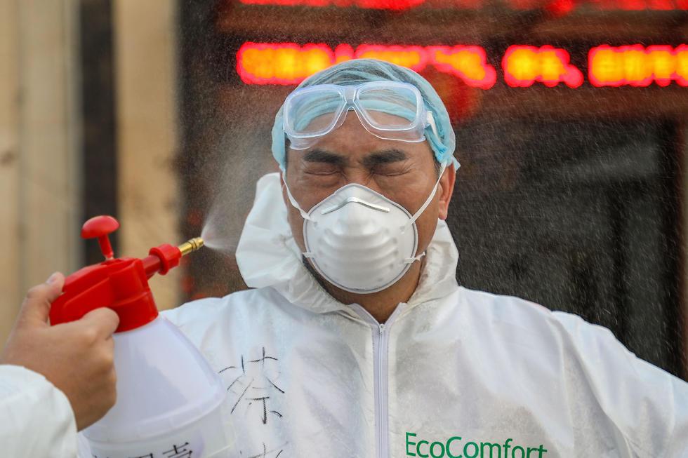 אזור בידוד ב ווהאן ב סין נגיף וירוס קורונה (צילום: AFP)