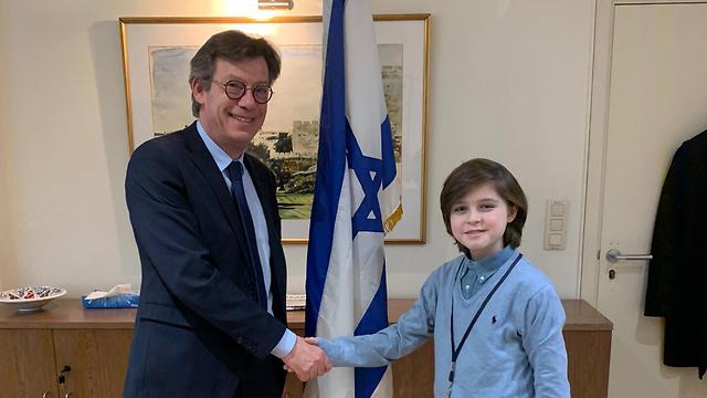 שגריר ישראל בבלגיה והגאון לורן  (צילום: שגרירות ישראל בבלגיה )