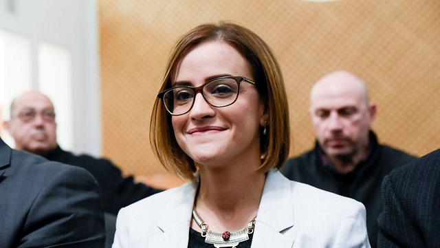 היבא יבזק בפתח הדיון בעניין פסילת מועמדותה לכנסת (צילום: שלו שלום)