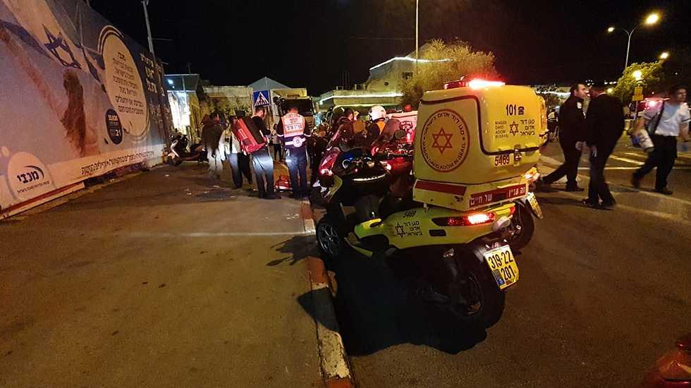 חשד לפיגוע דריסה בירושלים  (צילום: תיעוד מבצעי מד