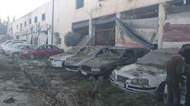 הריסות לאחר תקיפות חיל האוויר בדמשק ()