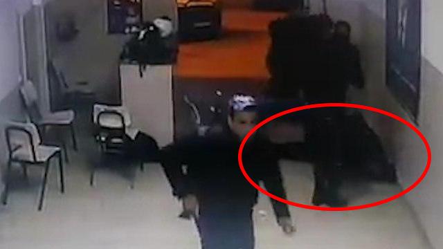תיעוד: ירי בשוטר הפלסטיני בג'נין ()