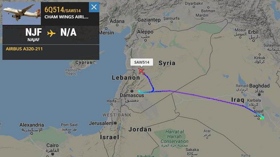 המטוס הסורי משנה את כיוונו בעקבות תקיפה צה