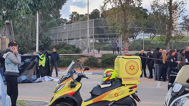 חשד לרצח בתל אביב: בן 40 נמצא ירוי בפארק וולפסון (צילום: שמוליק דודפור)