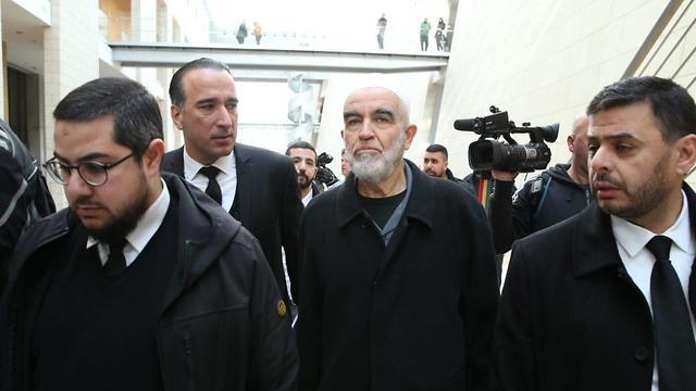 בית המשפט המחוזי בחיפה- מתן גזר דין לראאד סלאח על הסתה לטרור (צילום: אלעד גרשגורן)