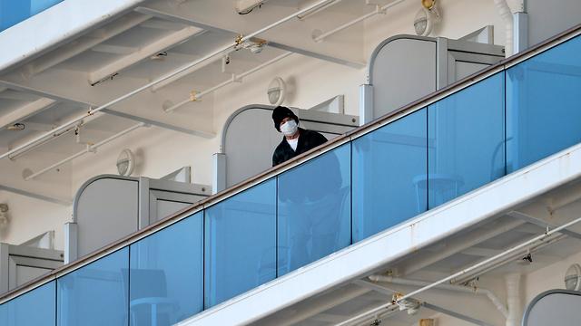 ספינת הקורונה ביפן (צילום: EPA)