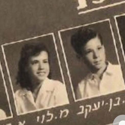 מירה ורפי בתמונת המחזור של בית הספר (צילום: אלבום פרטי)