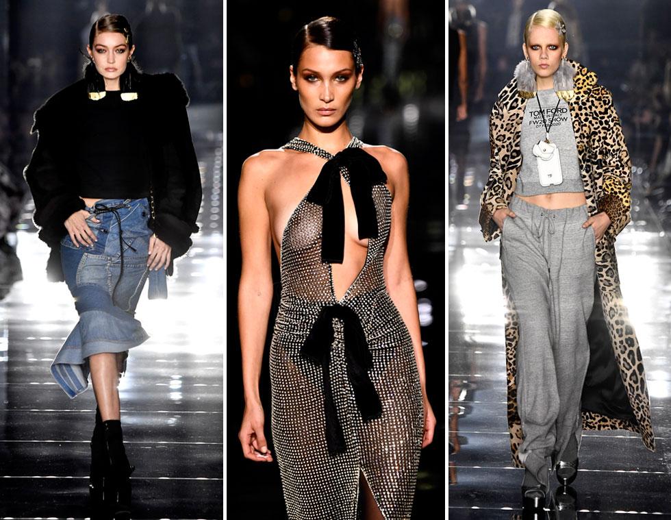 המעצב טום פורד בחר לעשות מחטף למעצבים המציגים בשבוע האופנה בניו יורק ולהעביר את התצוגה שלו ללוס אנג'לס, והטיס איתו שורה של דוגמניות מובילות (צילום: Frazer Harrison/GettyimagesIL)