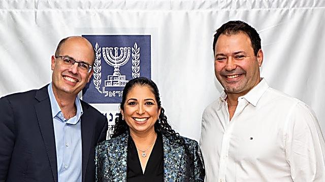 אריק זהבי, שירה רודרמן ואבי חסון (צילום: יעל שמיט)