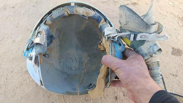 הקסדה של גורי שנמצאה היום בנחל פארן ()