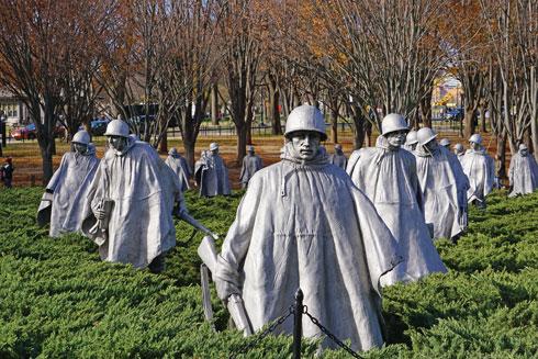 אנדרטת הזיכרון לחללי מלחמת קוריאה  (צילום: צביקה בורג)