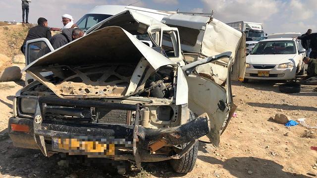תאונת דרכים כביש 80 (צילום: תיעוד מבצעי נגב מזרחי)