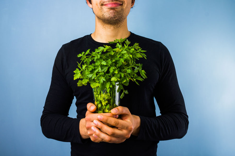 עוד סיבה לאהוב פטרוזיליה: מסייעת לגוף להיפטר מעודפי נוזלים (צילום: Shutterstock)