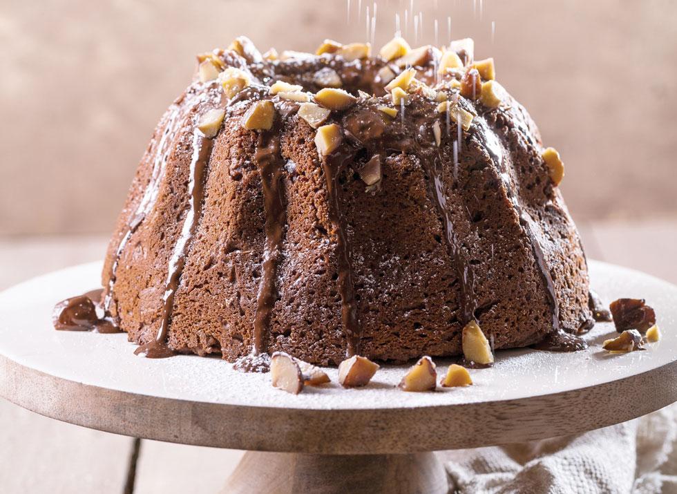 עוגת ערמונים לחה ודחוסה שכיף לאכול קרה או חמה  (צילום: בועז לביא, סגנון: ענת לבל)