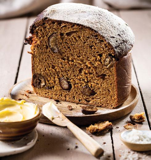 לחם דלעת וערמונים (צילום: בועז לביא, סגנון: ענת לבל)