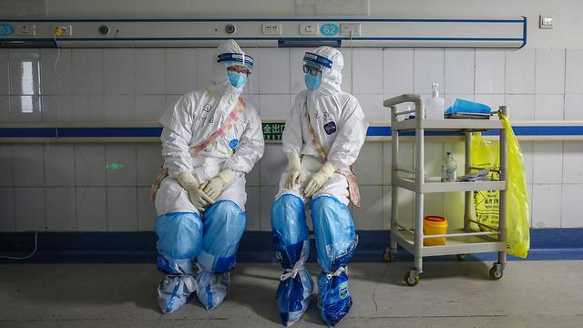 בית חולים ב ווהאן נגיף וירוס קורונה סין (צילום: AFP)