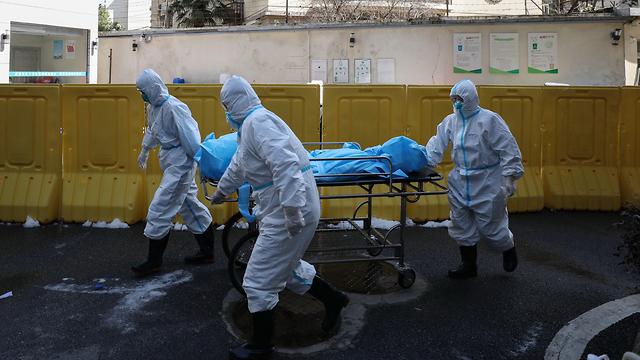 בית חולים ב ווהאן נגיף וירוס קורונה סין (צילום: EPA)