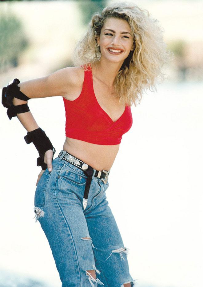 מודל של יופי ישראלי משוחרר. 1996 (צילום: שלום בר טל)