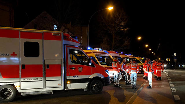 אירוע ירי בעיר הנאו שבמזרח גרמניה (צילום: EPA)