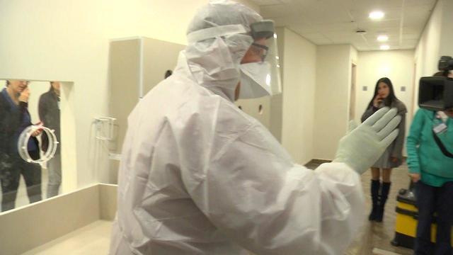 """Больница """"Шиба"""" готовится к приему носителей вируса. Фото: Шмулик Додфур"""