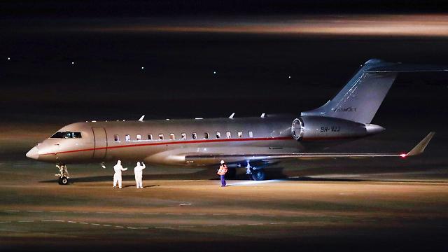 מטוס הקורונה הישראלי ביפן (צילום: AP)