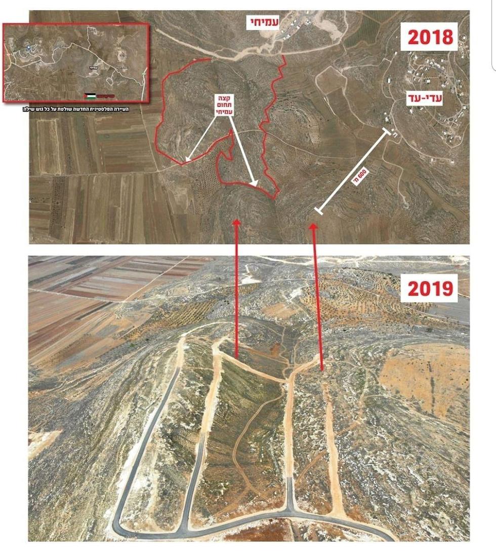 השתלטות הפלסטינים על קרקעות באזור המדובר ()
